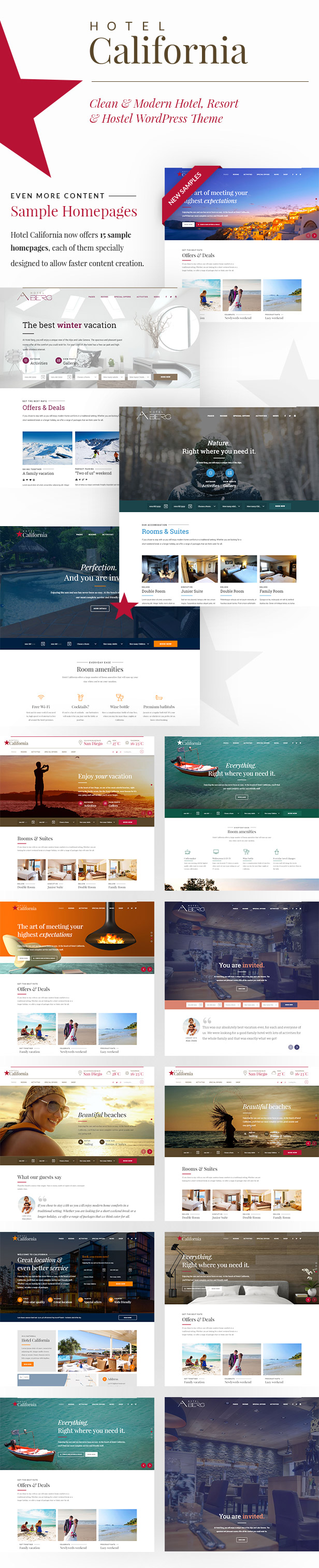 Hotel & Hostel WordPress Theme – Hotel California